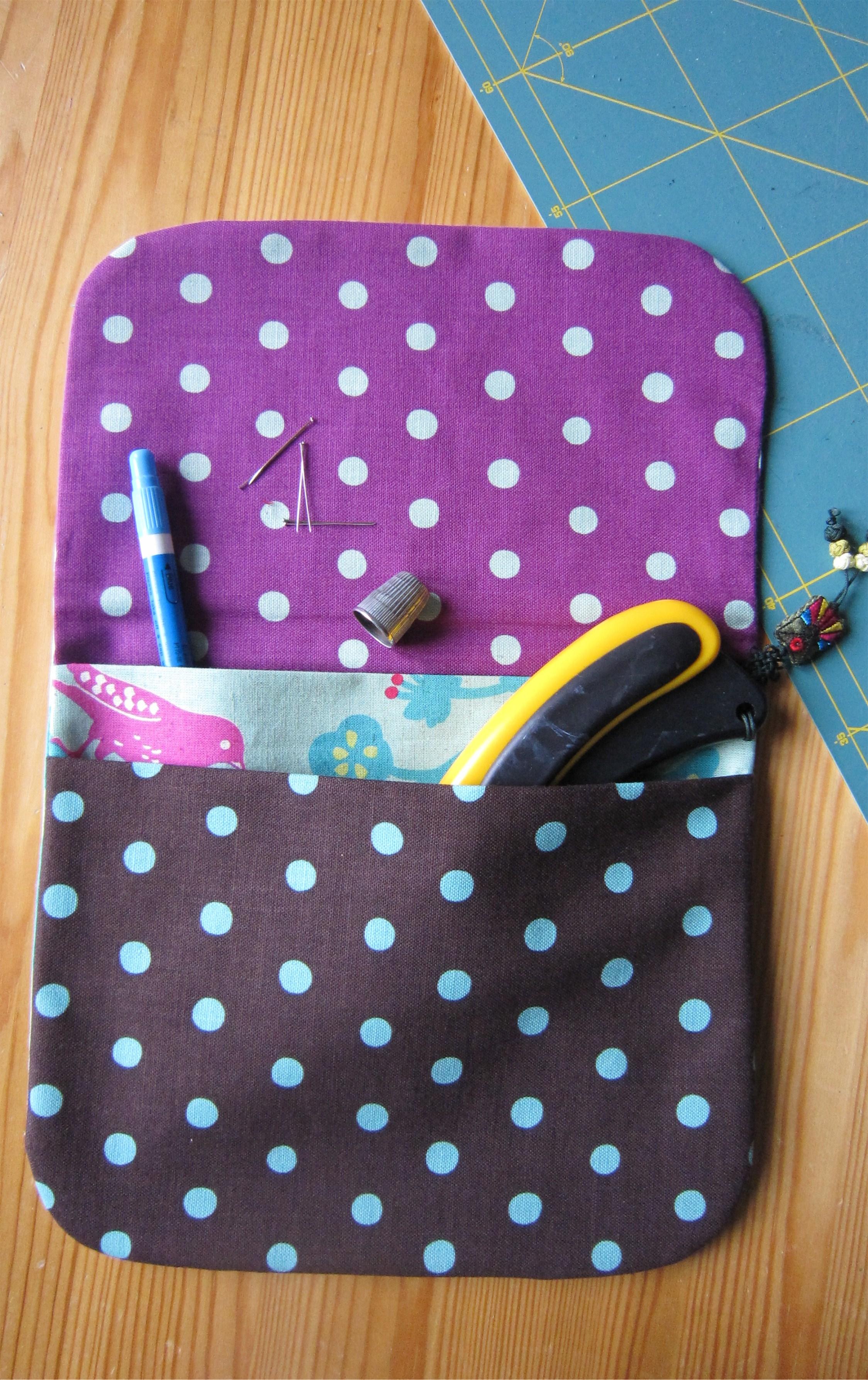 Pochette 2 Poches Coutures Invisibles 23 X 20 Cm Tout