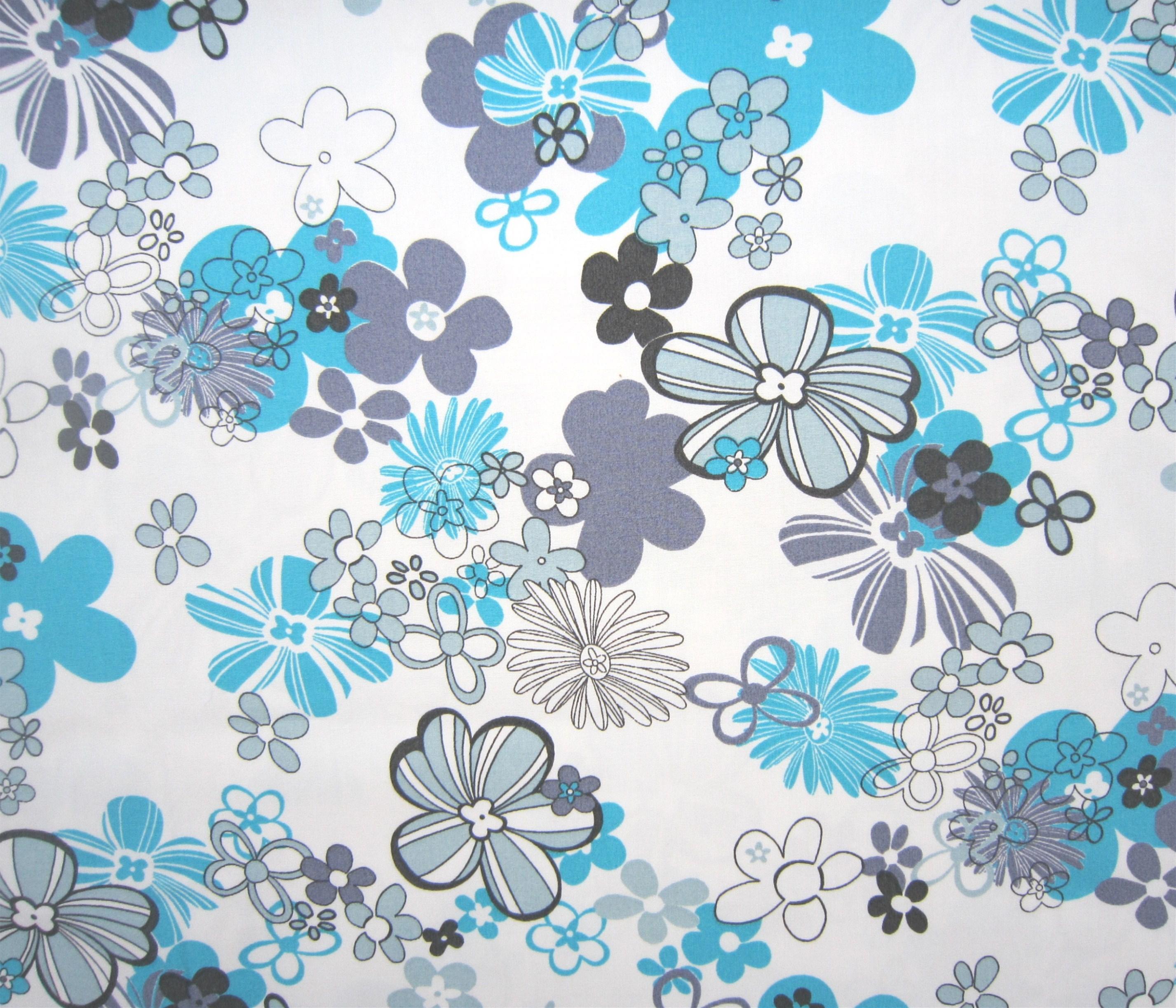 tissu patchwork grosses fleurs bleues tout home patch blog home patch. Black Bedroom Furniture Sets. Home Design Ideas
