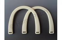 Poignée sac à main plastique coloris blanc ivoire