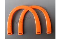 Poignée sac à main plastique coloris orange