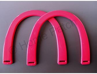 Poignée sac à main plastique coloris rose vif