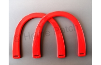 Poignée sac à main plastique coloris rouge