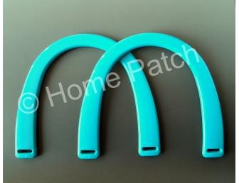 Poignée sac à main plastique coloris bleu turquoise