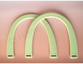 Poignée sac à main plastique coloris vert pistache