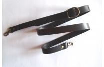 Anse de sac bandoulière réglable en cuir noir
