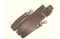 Anse de sac bandoulière réglable en cuir marron foncé