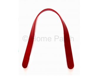 Anses de sac courtes en cuir rouge à coudre