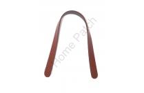 Anses de sac courtes en cuir marron à coudre