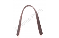 Anses de sac courtes en cuir marron foncé à coudre