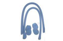 Anses de sac à coudre en cuir bleu vif
