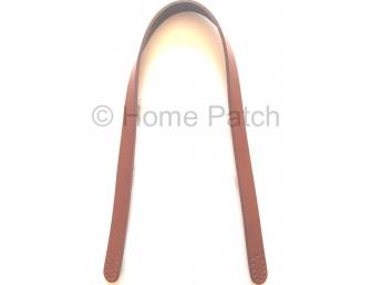 Anses de sac grande longueur marron à coudre