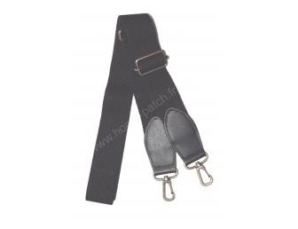Anse de sac bandoulière noire en sangle 3 cm