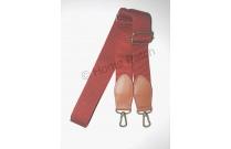 Anse de sac bandoulière rouge brique sangle 3 cm