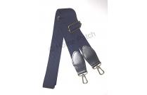 Anse de sac bandoulière bleu indigo sangle 3 cm