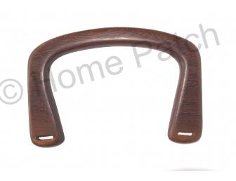 Poignée sac à main rectangulaire en bois 16 x 11 cm