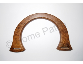 Poignée sac à main demi-ronde en bois 18.5 cm