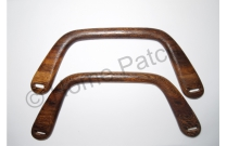 Poignée sac à main rectangulaire en bois