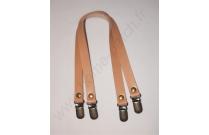 Anses de sac clips bretelles 40 cm beige