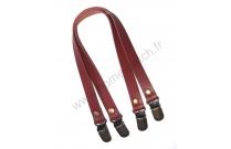 Anses de sac clips bretelles 40 cm rouges