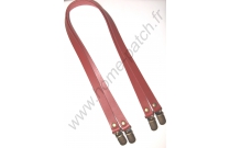 Anses de sac clips bretelles 60 cm rouge brique