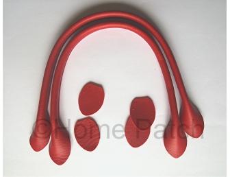 Anses de sac 40 cm coloris rouge profond