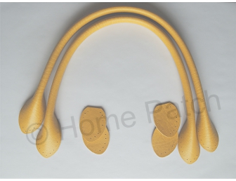 Anses de sac 40 cm coloris jaune bouton d'or