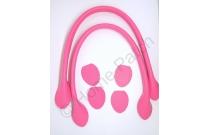 Anses de sac 40 cm coloris rose bonbon