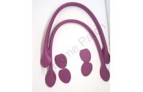 Anses de sac 40 cm coloris violet
