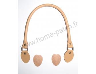 Anses de sac 48 cm coloris camel