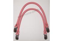 Anses de sac clip bretelle 40 cm coloris rose
