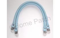 Anses de sac clip bretelle 40 cm coloris bleu