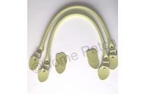 Anses de sac 48 cm coloris vert pistache