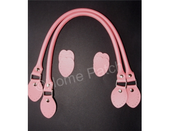 Anses de sac rabattables 48 cm coloris rose