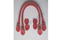 Anses de sac rabattables 48 cm coloris rouge profond