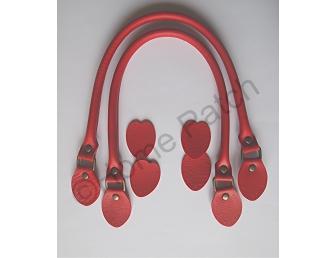Anses de sac 48 cm coloris rouge profond