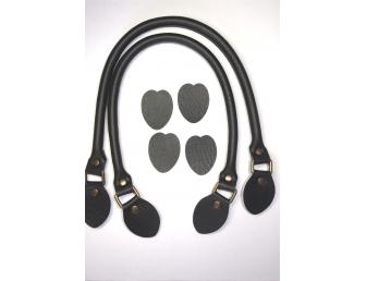 Anses de sac rabattables 48 cm coloris noir