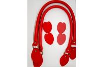 Anses de sac 60 cm coloris rouge profond