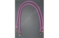 Anses de sac clips bretelles 60 cm coloris violet