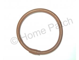 Anses de sac anneau en simili cuir marron