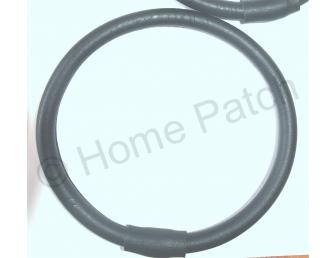Anses de sac anneau en simili cuir noir