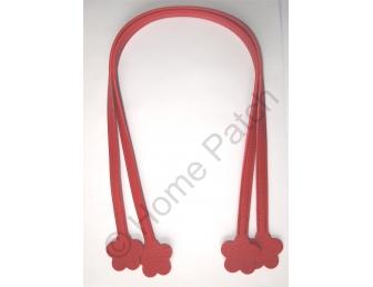 Anses de sac 60 cm fleur à coudre rouge profond