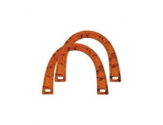 Poignée sac à main plastique ambré Clover