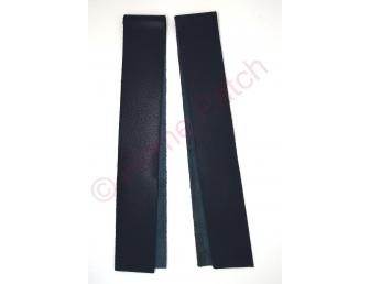 Lanières en cuir véritable bleu marine largeur 4 cm