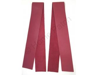 Lanières en cuir véritable rouge brique largeur 4 cm