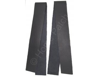 Lanières en cuir véritable noir largeur 4 cm