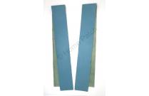 Lanières en cuir véritable bleu turquoise largeur 4 cm