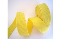 sangle coton jaune vif largeur 3 cm