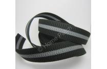 sangle synthétique noire et grise largeur 3 cm