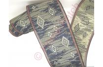 Galon tatami aux losanges sur fond beige et bleu marine