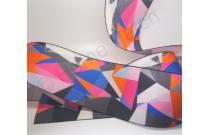 Galon de tatami géométrique noir et violet